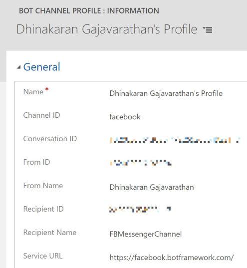 Bot Channel Profile