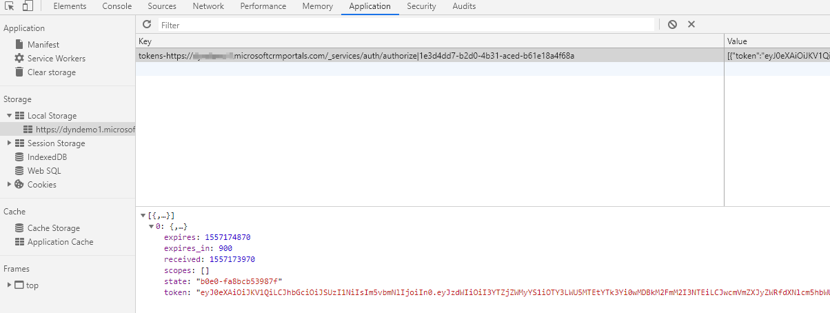 Passing Authentication Context from Dynamics Portals to